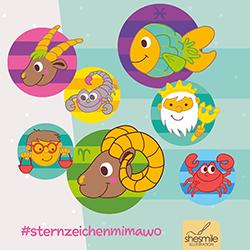 Sternzeichen-Mitmach-Wochen bei shesmile - Hashtag #sternzeichenmimawo