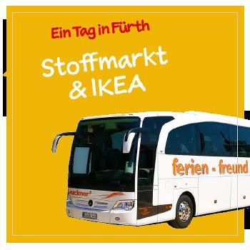 Ein Tag in Fürth - Mit dem Bus zum Stoffmarkt und zu IKEA