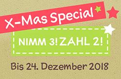 Weihnachts-Special im shesmile-Shop! Nimm 3! Zahl2!