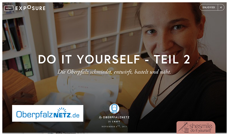 "shesmile im Teil 2 der Oberpfalznetz Online-Story ""Do it Yourself"""