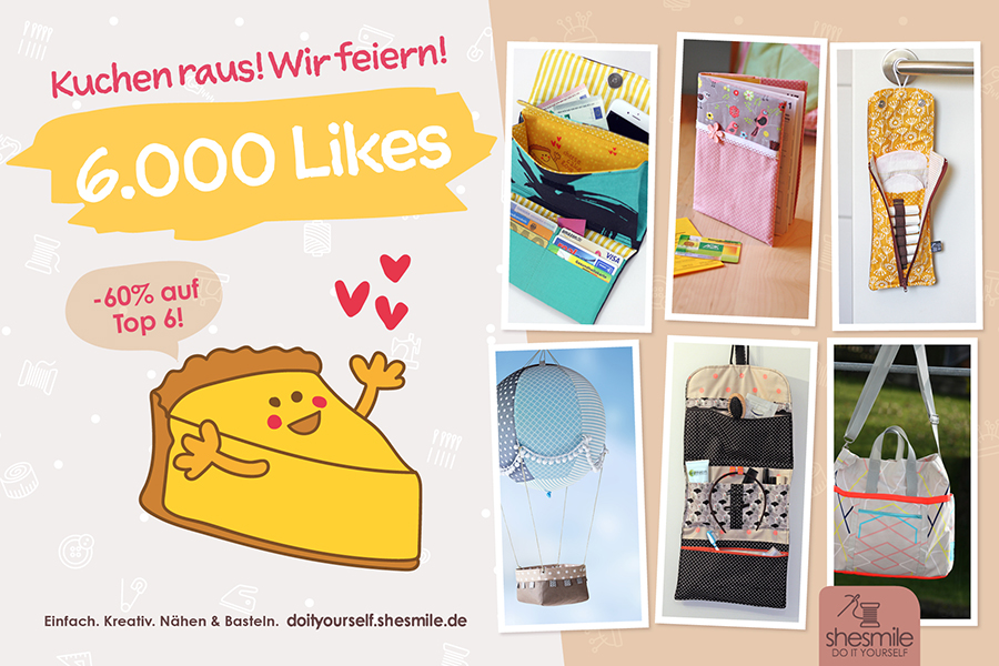 Kuchen raus! Wir feiern! 6.000 Facebook-Likes bei shesmile, Do it Yourself!