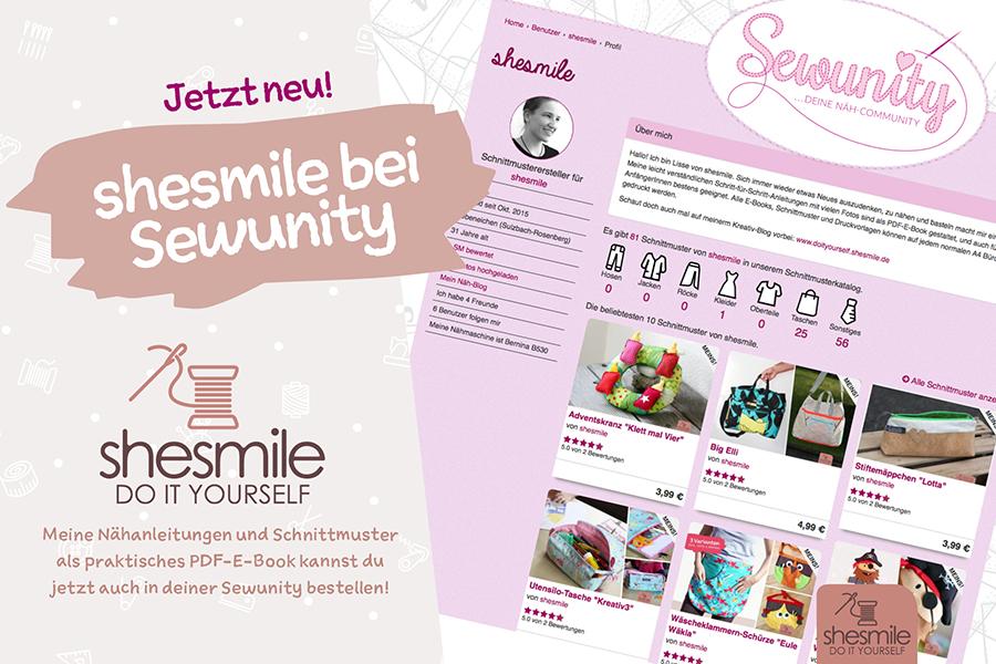 Meine E-Books im neuen Onlineshop der Sewunity direkt bestellen ...