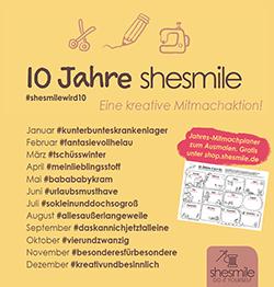 10 Jahre shesmile - Eine kreative Mitmachaktion 2017