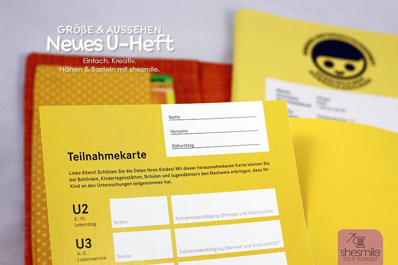 Extrem Das neue U-Heft - Aussehen und Größe (+ Video) - shesmile GE56