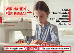 Wir nähen für Emma! Eine Mitmach-Aktion für Näherinnen von Veritas für das Kinderhilfswerk