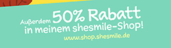 50% Rabatt in meinem shesmile-Shop