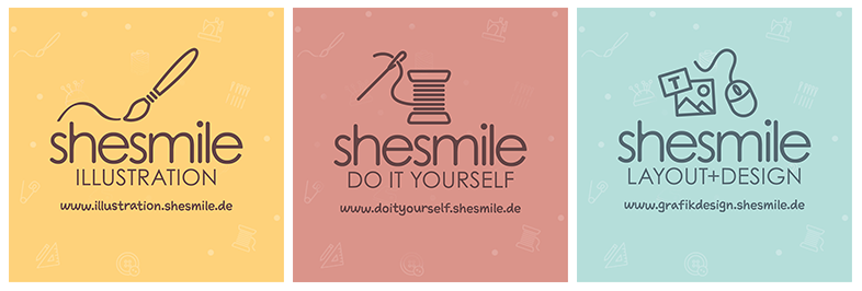 shesmile Bereiche - shesmile Illustration, shesmile DIY, shesmile Layout & Design
