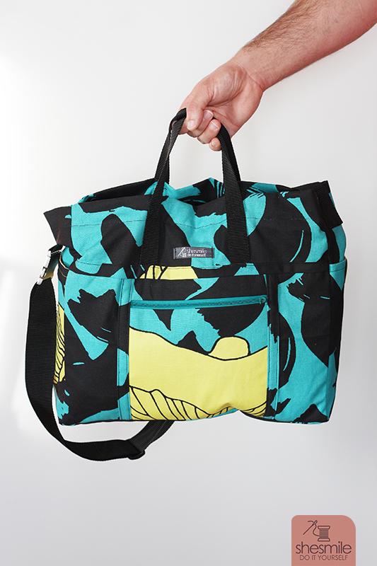 Ikea Stoff eine große handtasche big elli aus användbar ikea shesmile