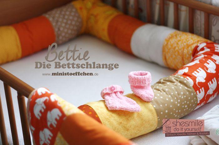Probenähen: Bettie - die Bettschlange (Nähanleitung und ...