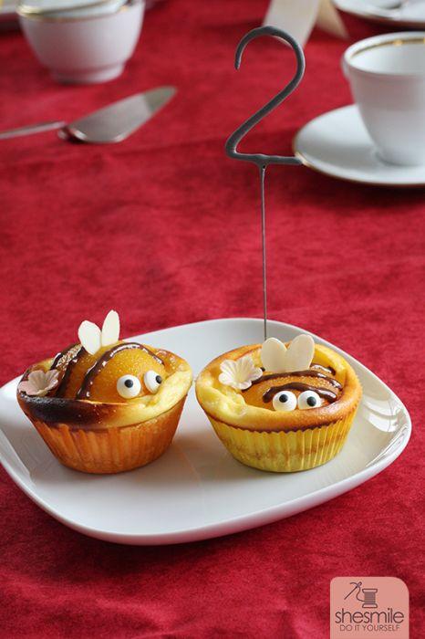 Bienen Kasekuchen Muffins Zum 2 Geburtstag Von Nele Shesmile