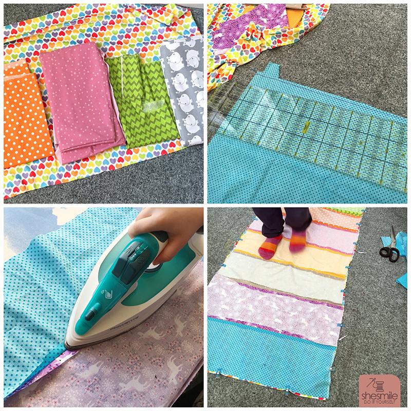 Mama Tochter Nähprojekt Ein Regenbogen Kissen Für Die