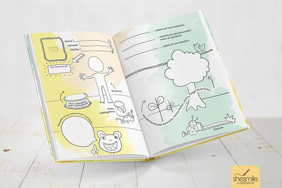 Mein kreativ freundebuch zum malen kritzeln und schreiben shesmile - Malen im kindergarten ...