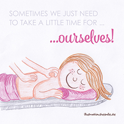 Sometimes we just need to take a little time for ourselves! (Eine Illustration von shesmile)