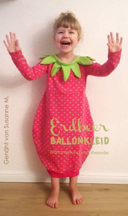Kostum Erdbeere Ballonkleid Nahanleitung Fur Alle Grossen Shesmile