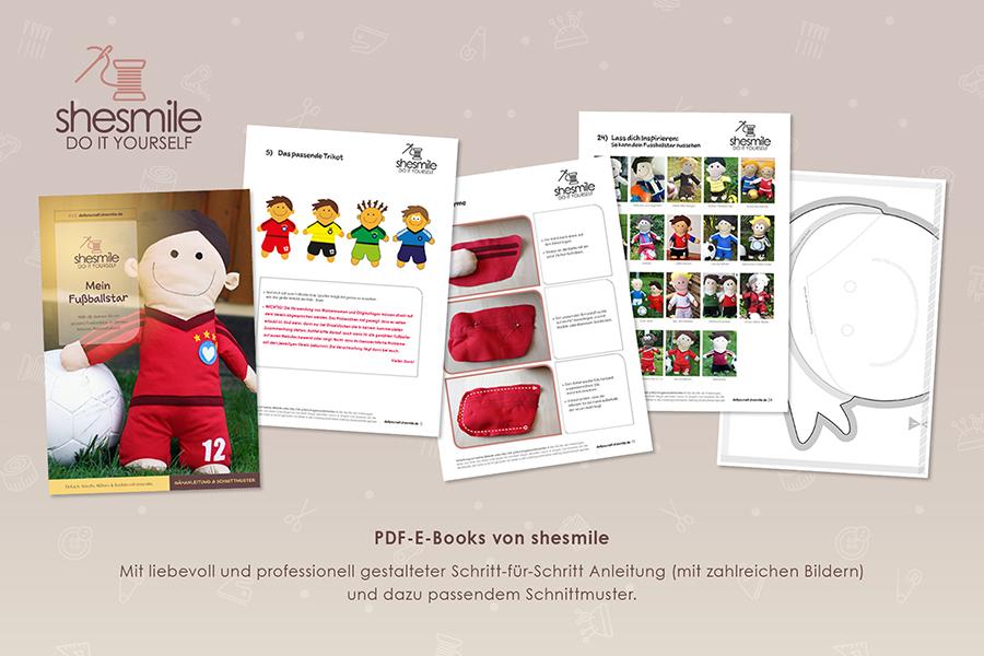 Fußballstar Kuschelfreund (Nähanleitung & Schnittmuster) - shesmile