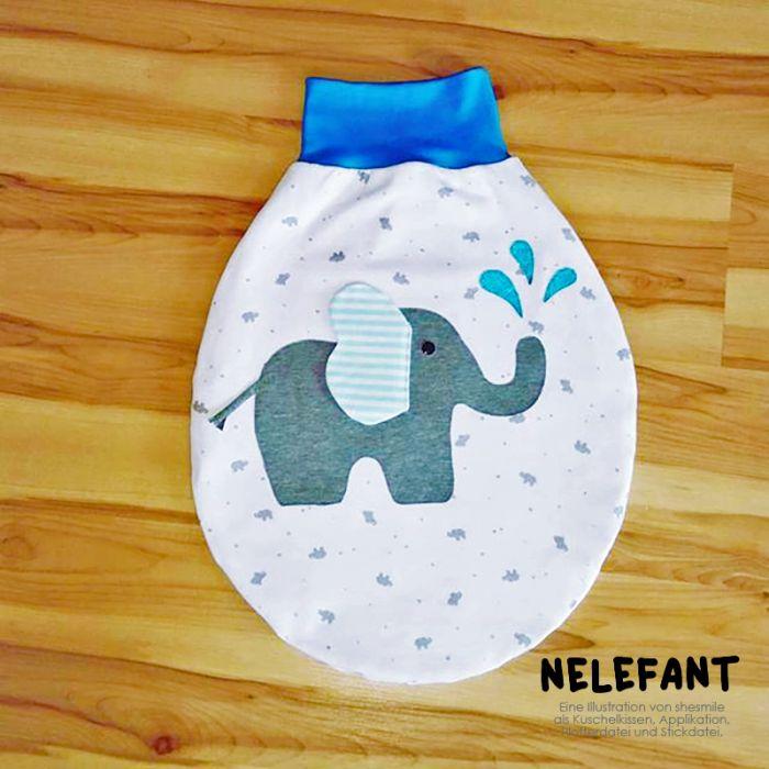 Elefant Nelefant Applikationsvorlage Und Nähanleitung Shesmile