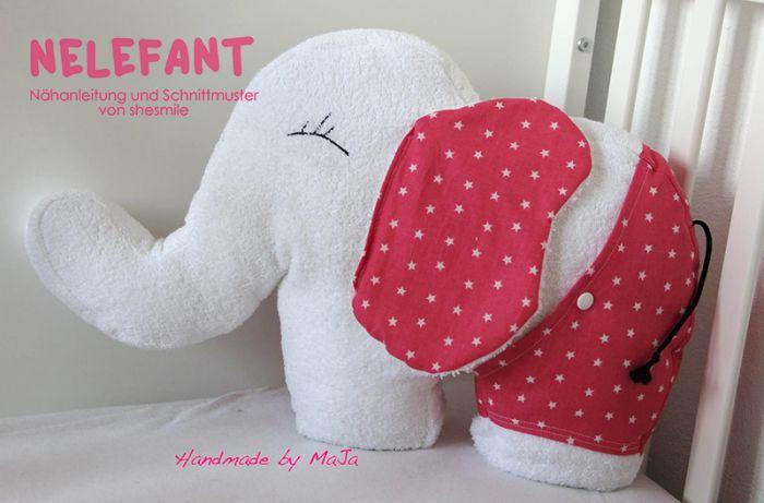 elefanten kuscheltier nelefant n hanleitung und. Black Bedroom Furniture Sets. Home Design Ideas