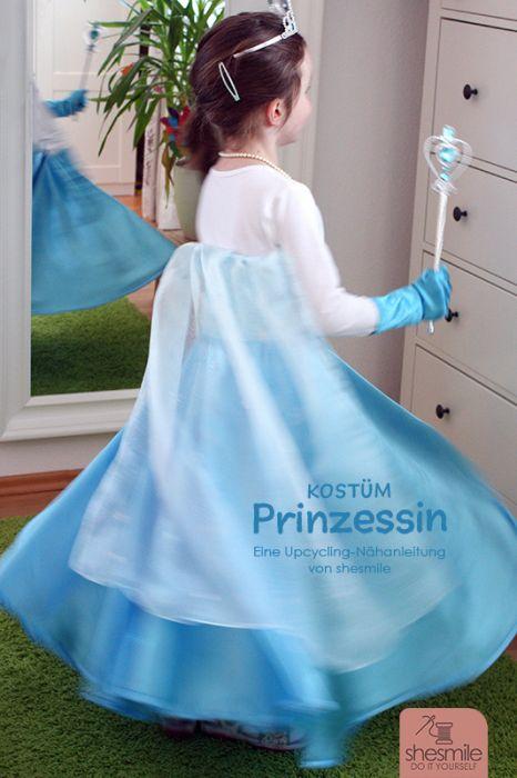Kostüm Prinzessin Upcycling Nähanleitung Für Alle Größen Shesmile