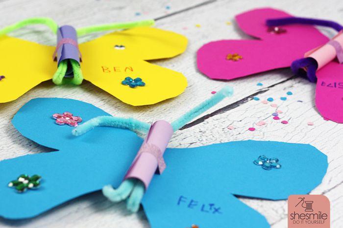 Schmetterling Einladungskarten Aus Papier. Kinderleicht Und Schön  Gebastelt. Eine DIY Idee Von