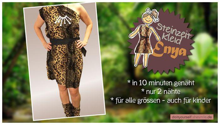 Kostum Steinzeit Kleid Enya Nahanleitung Fur Alle Grossen Shesmile