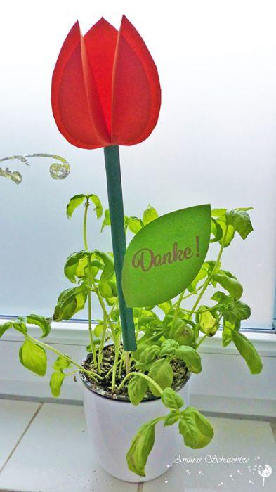 tulpen einfach basteln anleitung, tulpen aus papier (kostenlose bastelanleitung & druckvorlage) - shesmile, Design ideen