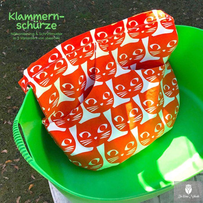 Wäscheklammernschürze in 3 Varianten (Nähanleitung & Schnittmuster ...