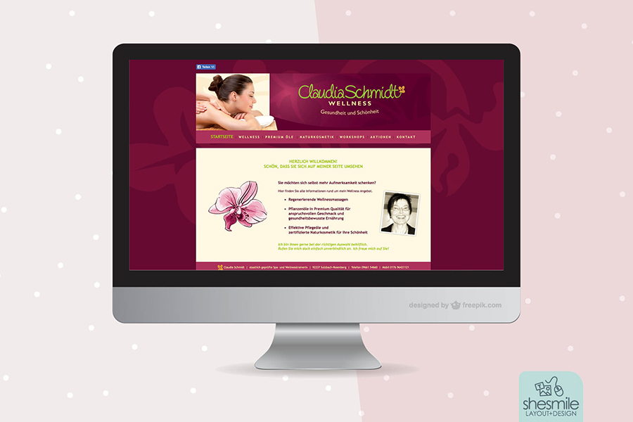Claudia Schmidt Wellness (Website)
