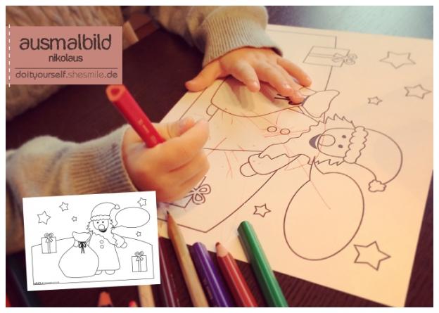Nikolaus Ausmalbild Für Kinder Kostenlose Druckvorlage