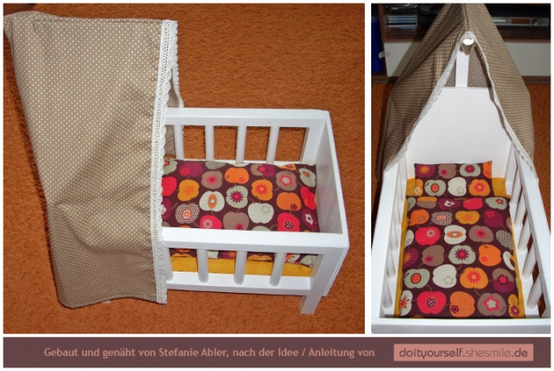 Puppenbett Aus Holz Mit Bettwäsche Nähanleitung Bauanleitung