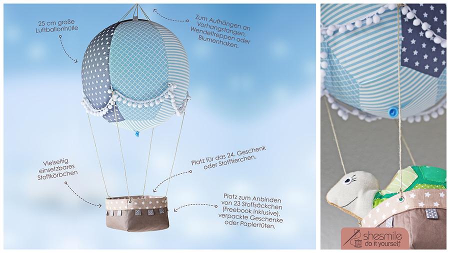 Adventsballon (Nähanleitung und Schnittmuster)
