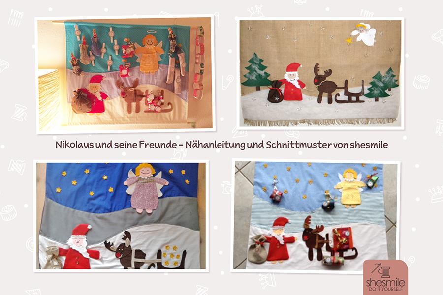 Adventskalender Nikolaus und seine Freunde (Nähanleitung & Schnittmuster)