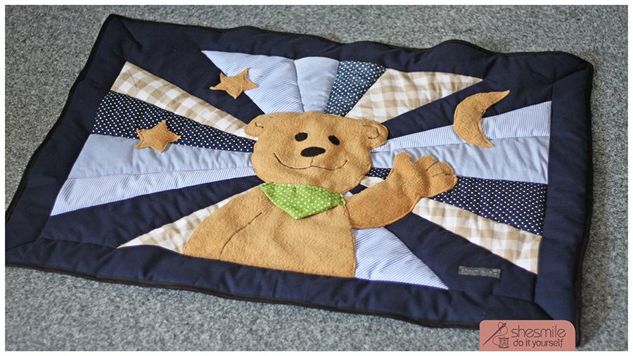 Babydecke mit Bär (Nähanleitung & Schnittmuster)