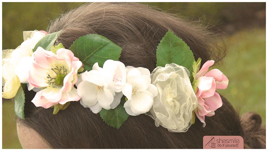 Blumenschmuck Bela Noiva (Kostenlose Bastel- und Nähanleitung)