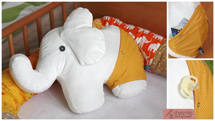 Elefanten-Kuscheltier Nelefant (Nähanleitung und Schnittmuster)