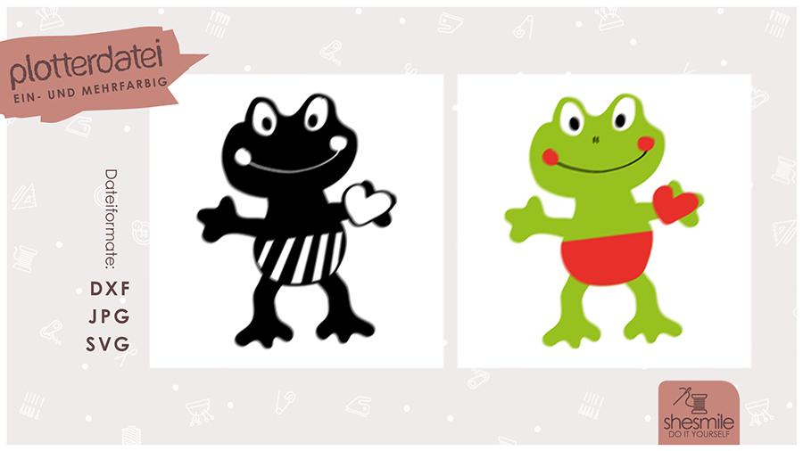 Frosch Quenni (Plotterdatei und Illustration)