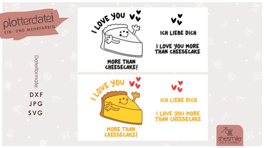 Käsekuchen Liebe (Plotterdatei und Illustration)