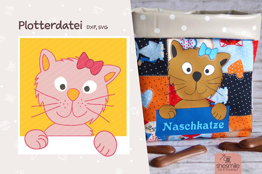 Katze Kantenhocker Kitty (Kostenlose Plotterdatei)