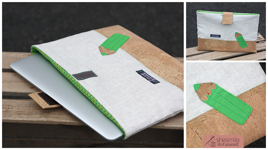 Schutztasche für Tablets, Handys oder Laptop (Nähanleitung & Schnittmuster) Kork