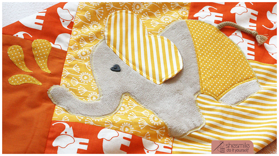Nähen: Elefant Nelefant (Applikationsvorlage und Nähanleitung)