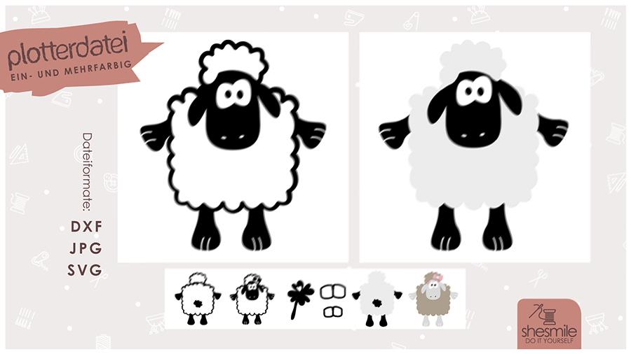 Schafe Sepp und Sibylla (Plotterdatei und Illustration)