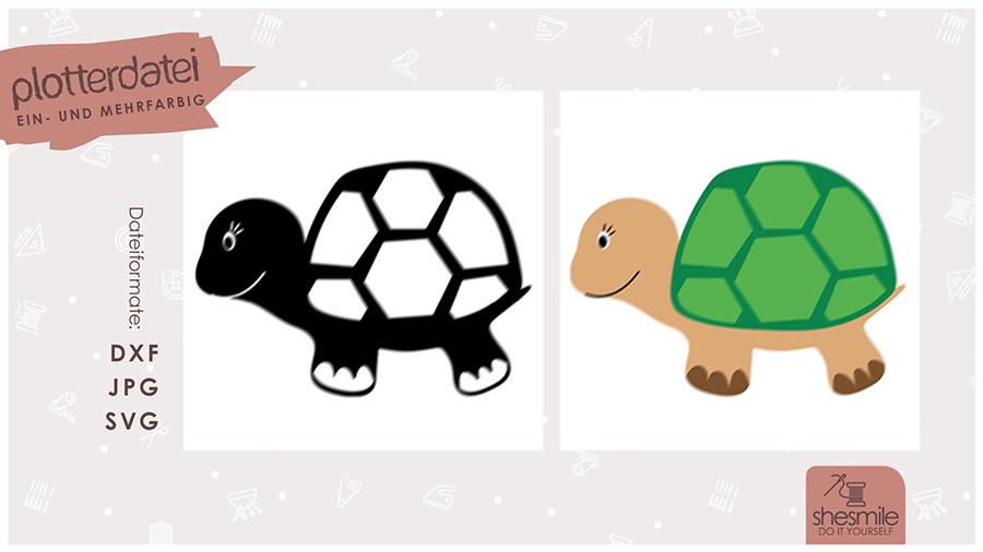 Schildkröte Selma (Plotterdatei und Illustration)