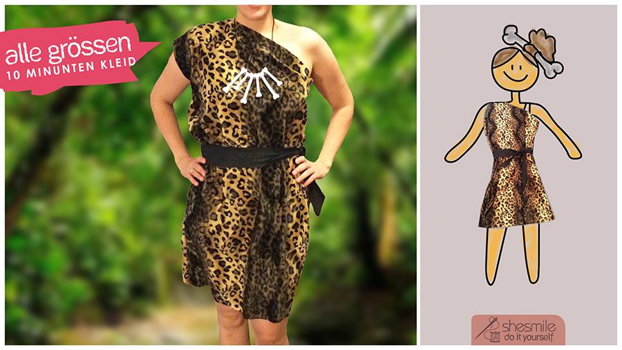 Kostüm Steinzeit-Kleid Enya (Nähanleitung für alle Größen)