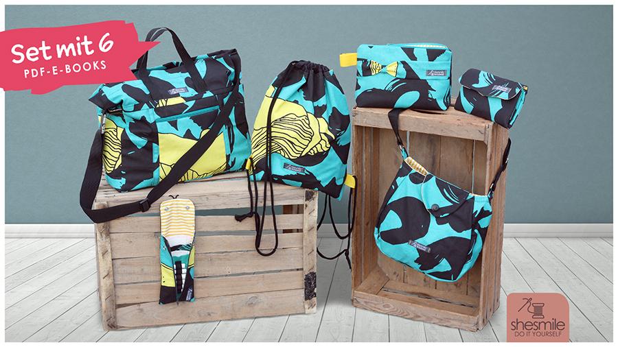 Taschenset shesmile Lieblingstaschen (Set mit 6 PDF-E-Books)
