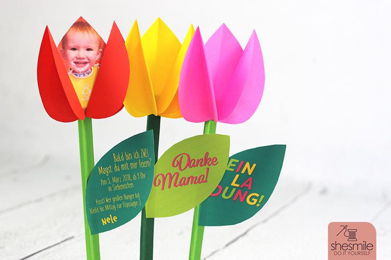 Tulpen aus Papier (Bastelanleitung & Druckvorlage)