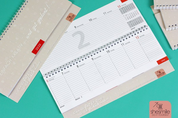 Tischkalender als Wochenplaner + 1 Jahr lang 10% Rabatt auf alles!