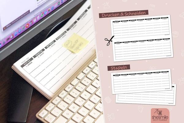 Kalender als Wochenplaner (Kostenlose Druckvorlage)