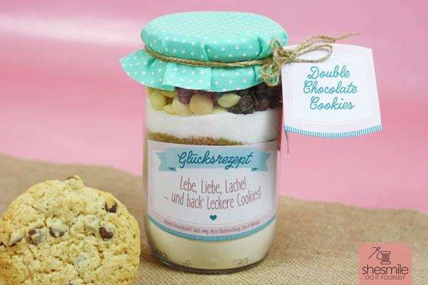 Backmischung Cookies im Glas (Rezept und Druckvorlage)