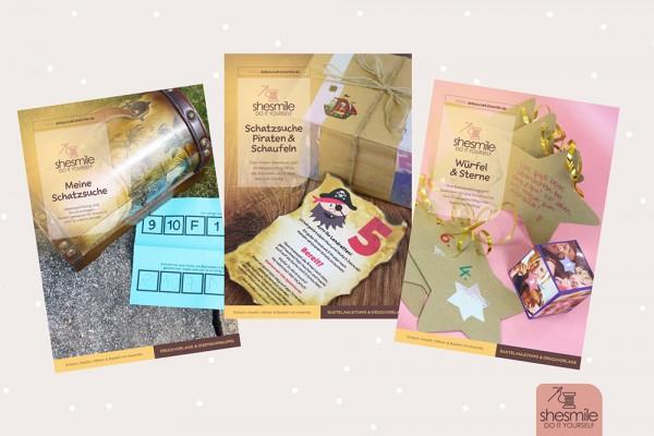 Schatzsuchen zum Kindergeburtstag (Set mit 3 E-Books)