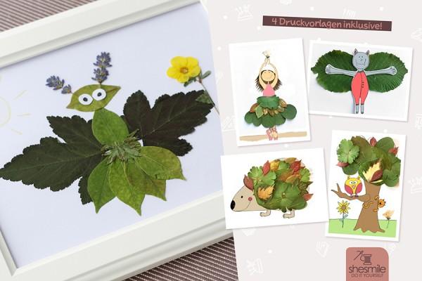 Blättertiere basteln (Kostenlose Bastelanleitung und Druckvorlage)