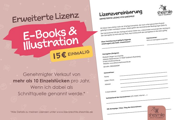 """Erweiterte-Lizenz """"E-Books und Illustration"""" von shesmile"""